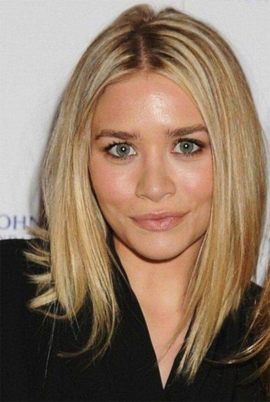 ashley olsen Angled Bob Hairstyle
