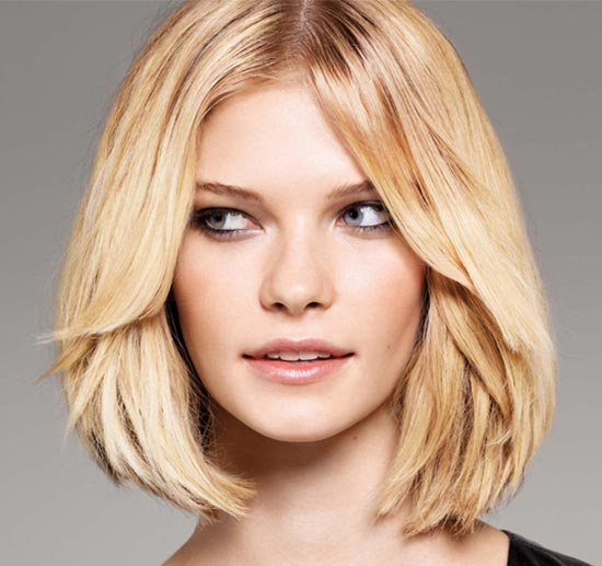 carré flou cheveux raides Medium Blonde Hairstyles