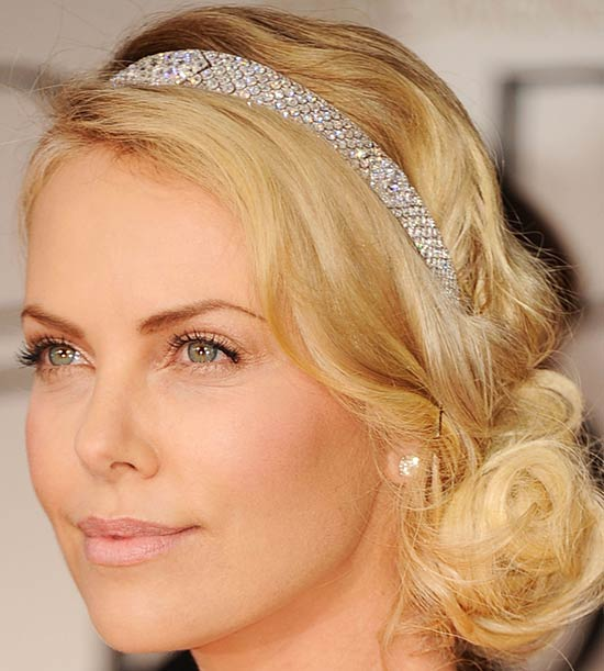 charlize theron Medium Hairstyles for Round Faces