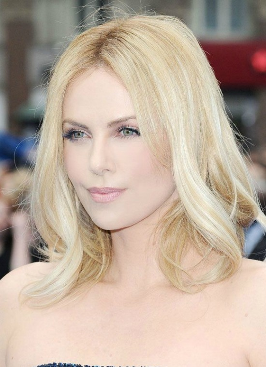 charlize theron long bob hairstyle