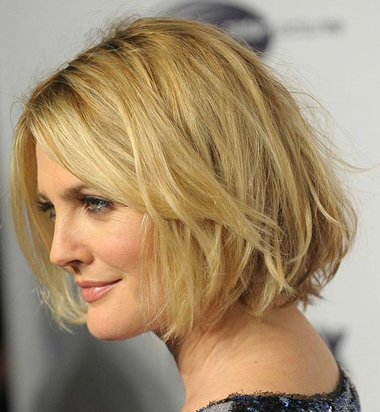 drew-barrymore Shaggy Bob Haircuts