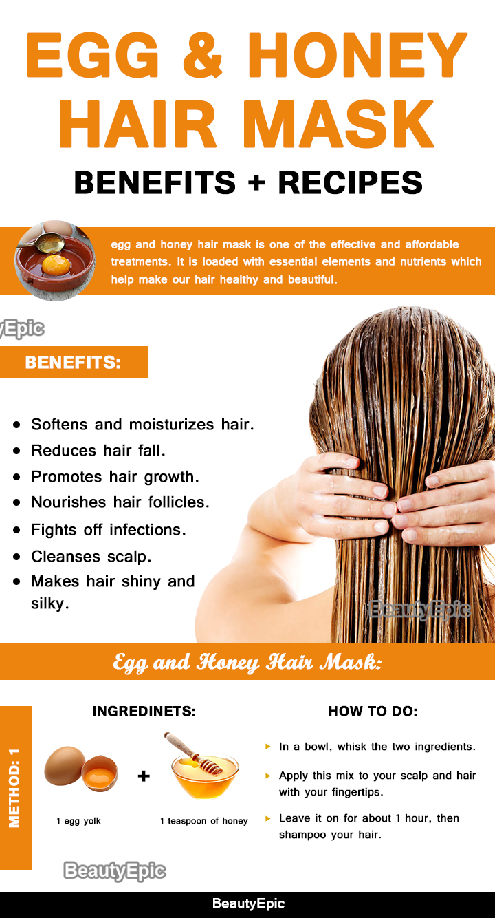 egg and honey hair mask