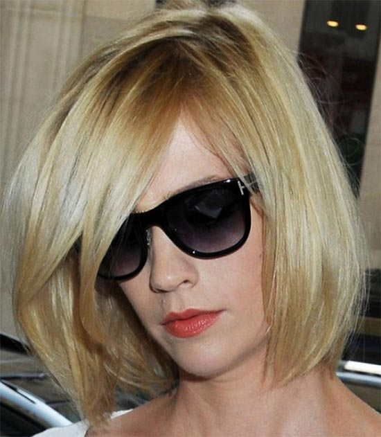 january jones Angled Bob Hairstyle