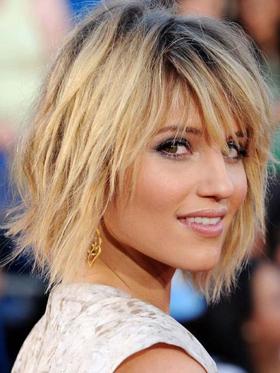 jennifer lawrence Choppy Bob Hairstyles