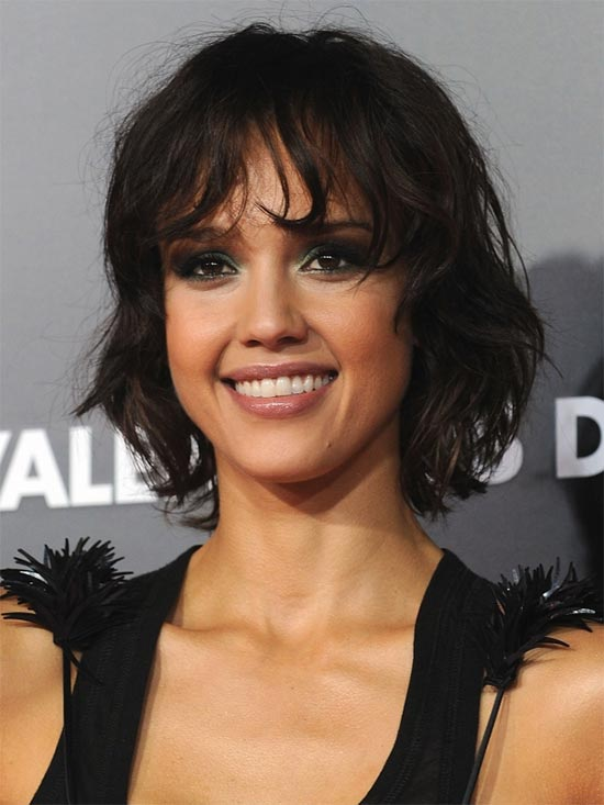 jessica alba Medium Shag Haircuts