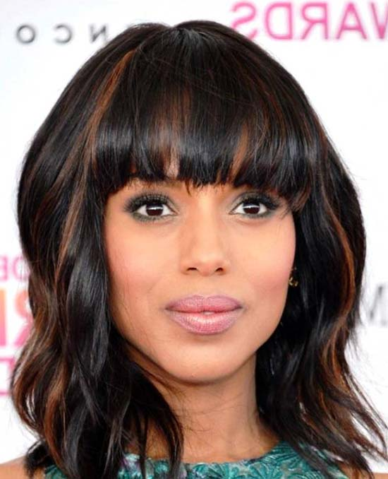 kerry-washington Medium Length Haircuts for Thick Hair