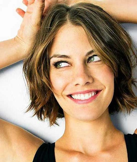lauren cohan Choppy Bob Hairstyles