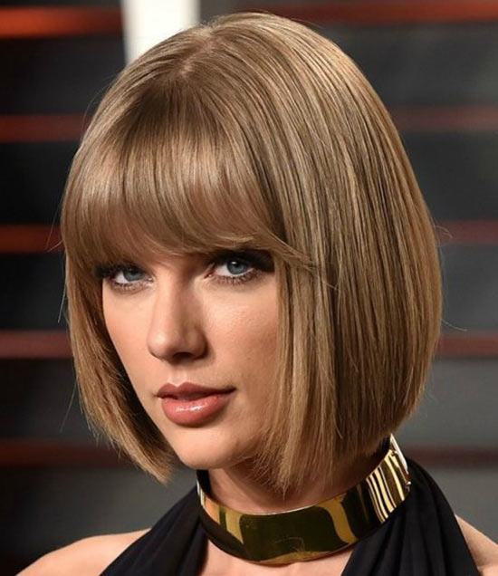 taylor swift Blunt Bob Hairstyles
