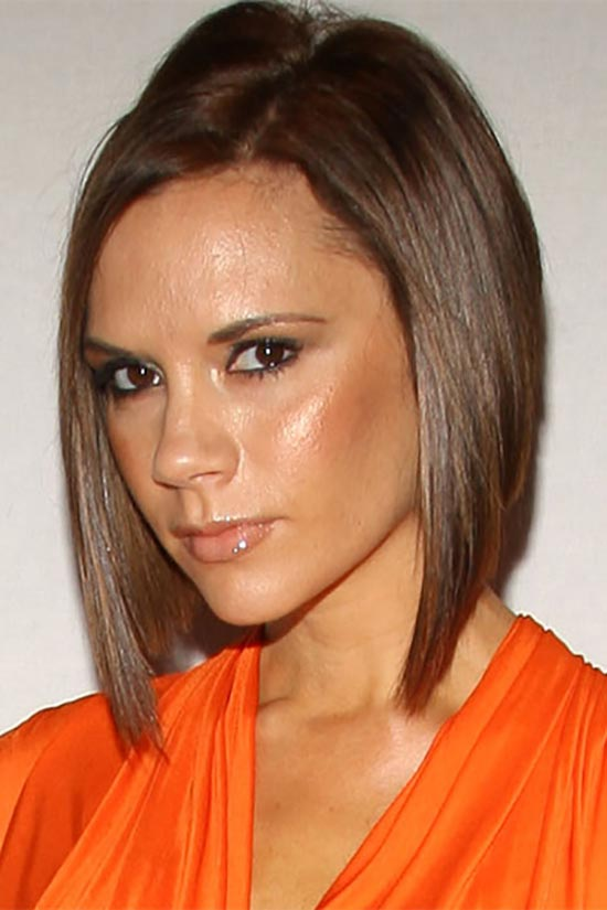 victoria beckham Angled Bob Hairstyle