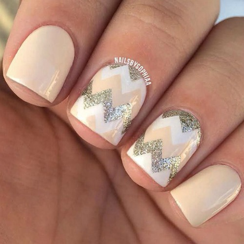 Pink Winter Snowflake Nail Art Design