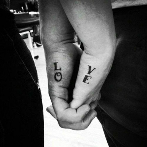couple love tattoo