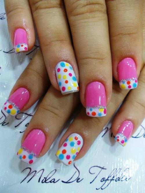 Beautiful Polka Dot Nail Art