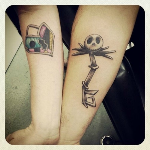 nightmare before christmas couple tattoo