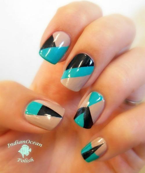 Floss Gloss Geometric Nail Art