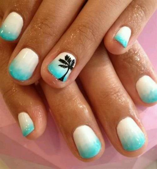 Beach Inspired Nail Art