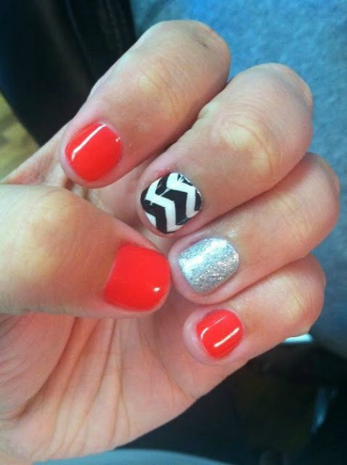 Red and Black Nail Designs for Short Nails
