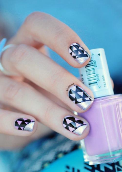 Cute Geometric Nail Art