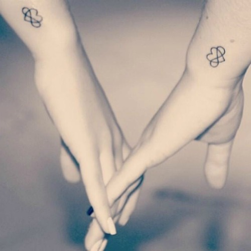 infinity Love couples tattoo
