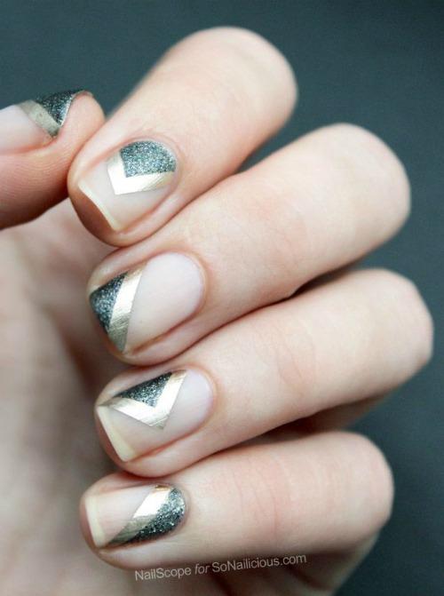 Angular Geometric Nail Art
