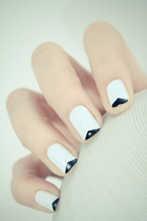 White Glam Nail Art Design