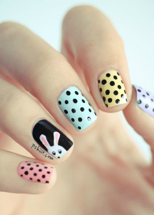 Easter Bunny Polka Dots Design