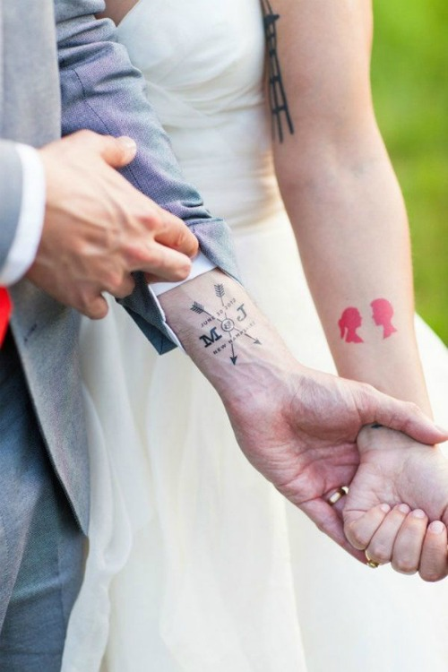 Matching couple tattoo