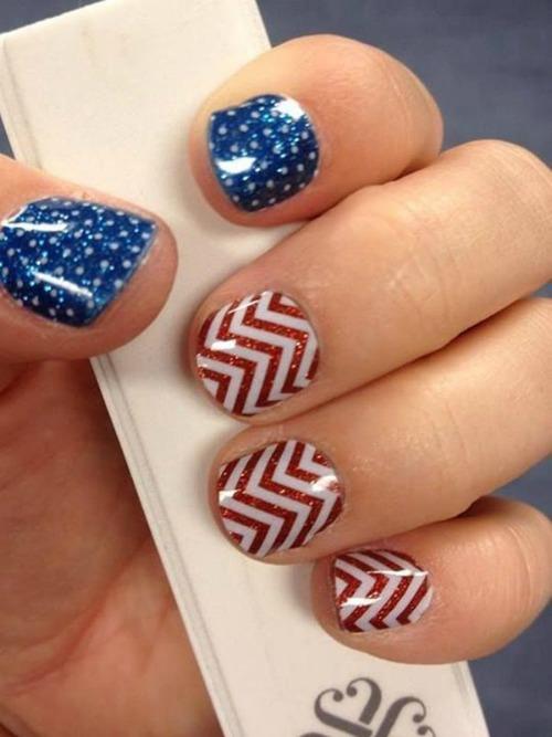 American Flag Nail Art Design