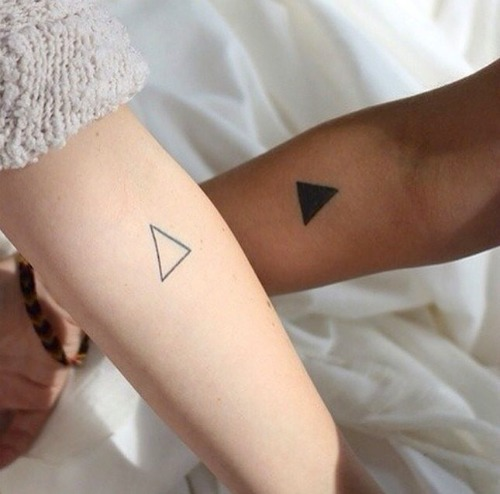 triangle couple tattoo