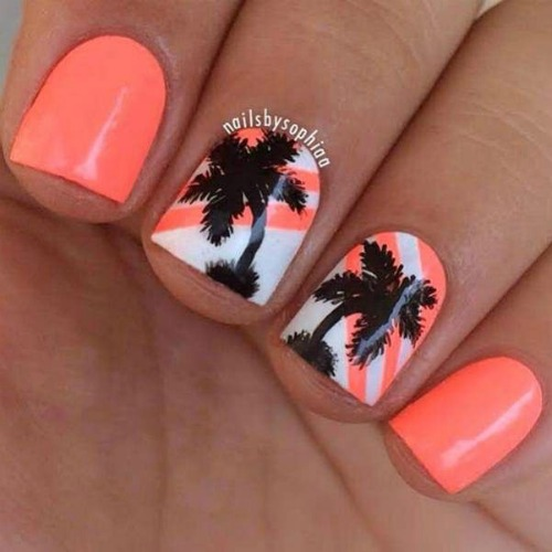 Beach Themed Nail Design
