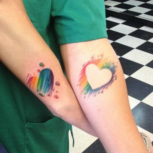 rainbow couple tattoo