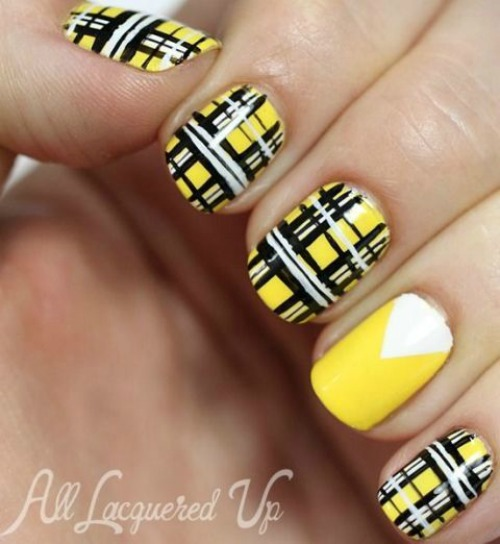 Geometric Nail Designs for Short Nails