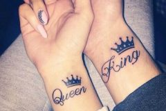 queen and king couple tattoos
