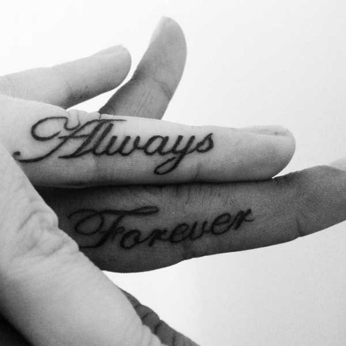 always and forever couple tattoo