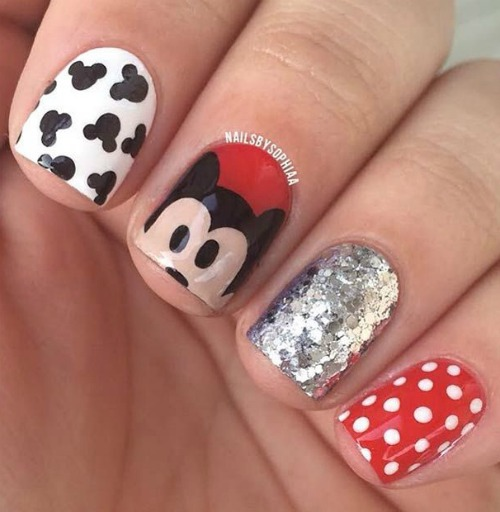 Disney Nail Art Design for Short Nails