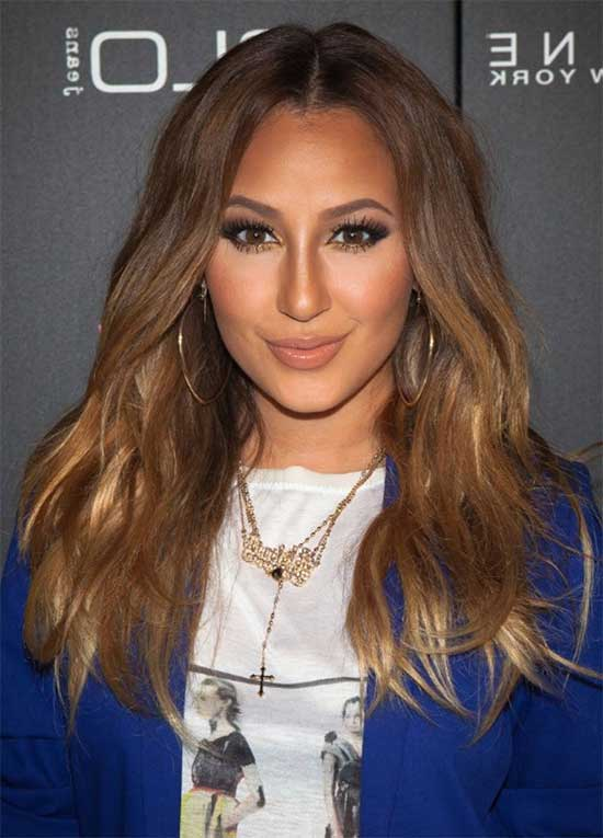 Adrienne Bailon Brown Long Hairstyles
