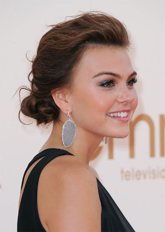 Aimee Teegarden Updo For Thin Hair