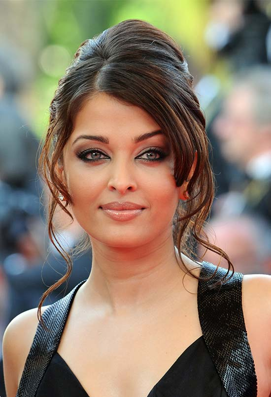 Aishwarya Rai Updo For Thin Hair