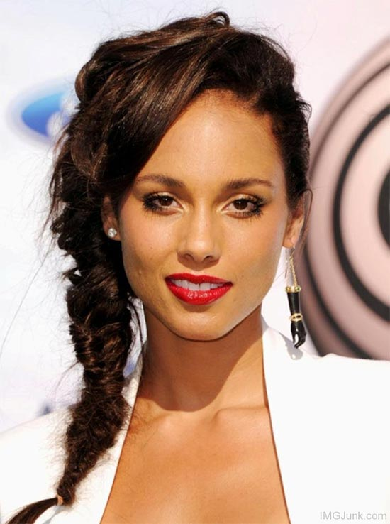 Alicia Keys Braided Hairstyle