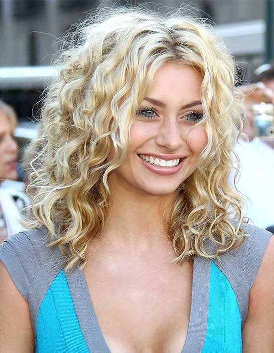 Aly Michalka Curly Hair with Bangs