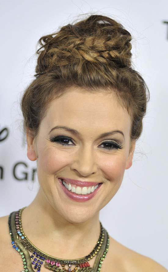 Alyssa Milano Updo For Thin Hair