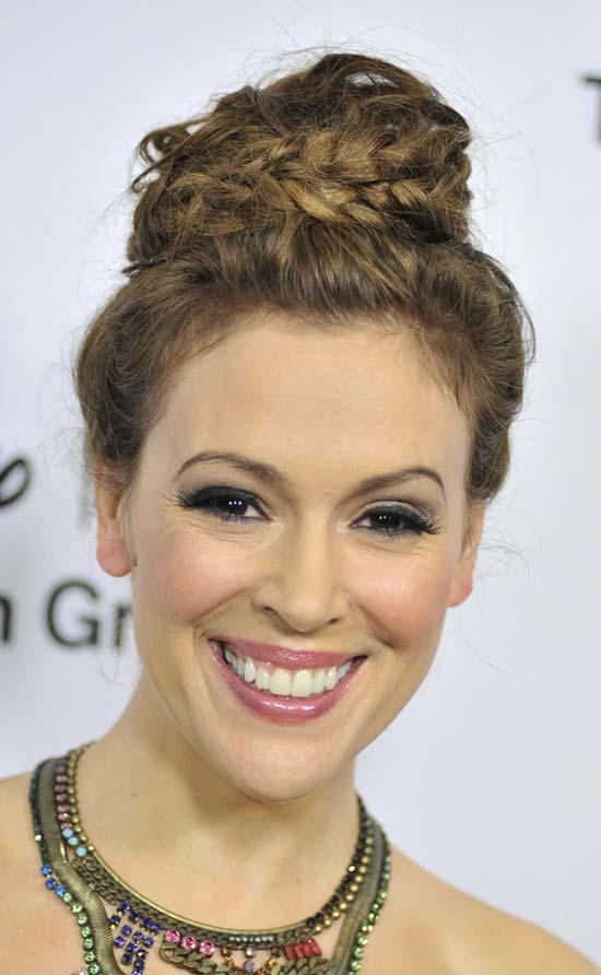 Alyssa Milano Updo For Thin Hair
