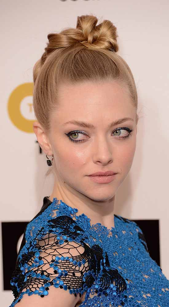 Amanda Seyfried updo for long hair