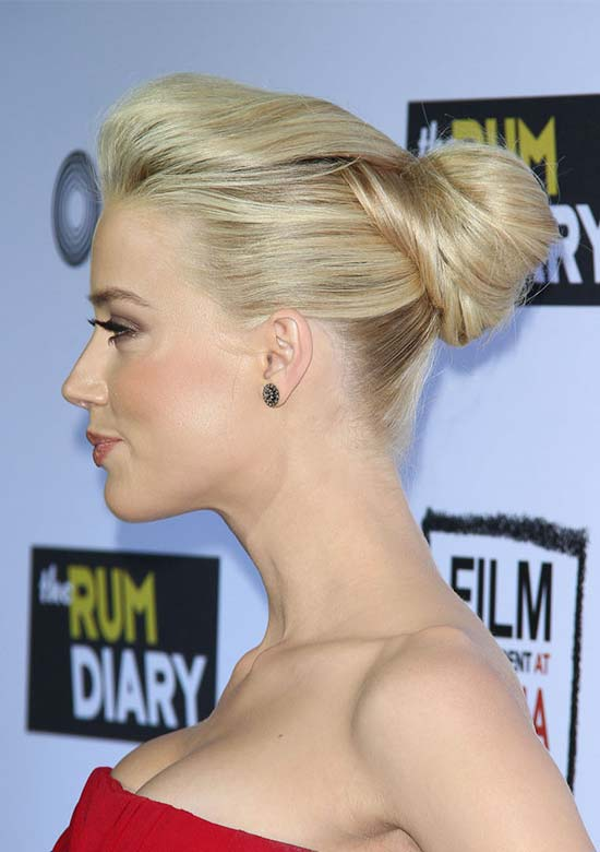 Amber heard Prom Updo hairstyle