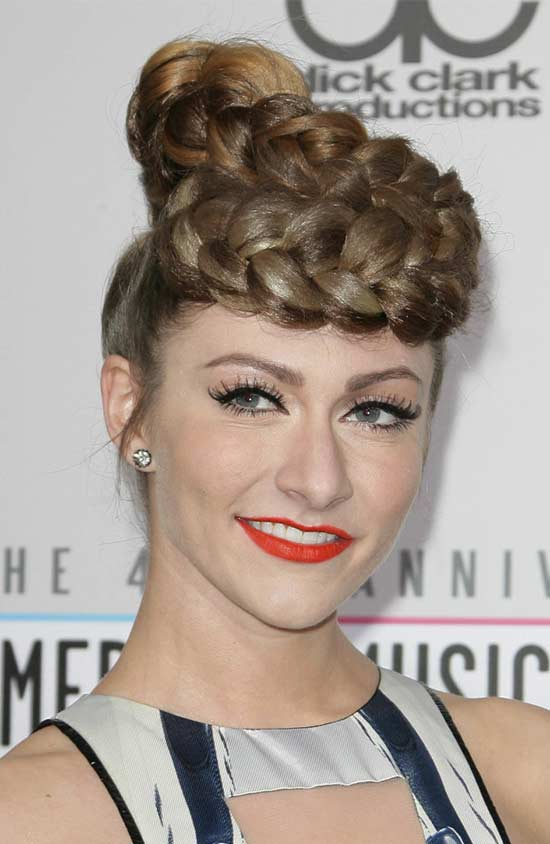 Amy Long Updo Hairstyle