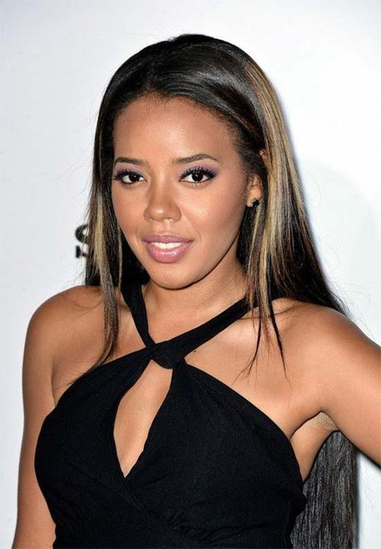 Angela Simmons Long Straight Sleek Hairstyle for Black Girls