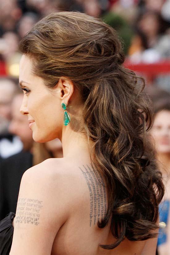 Angelina Jolie Half Updos