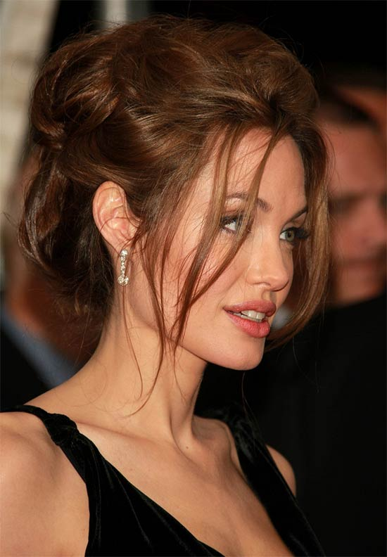 Angelina Jolie messy Updo for long hair
