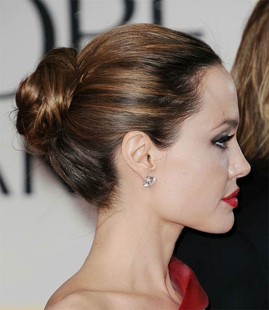 Angelina-Jolie updo for long hair