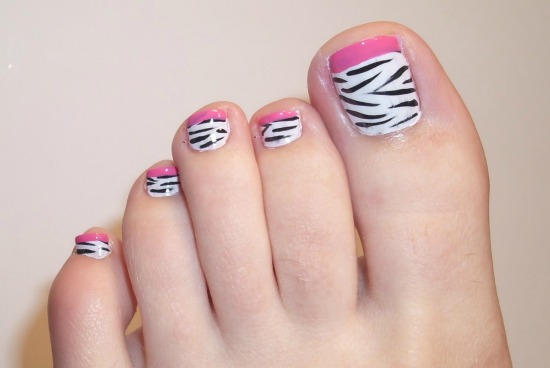 Animal Print Toe Nail Art