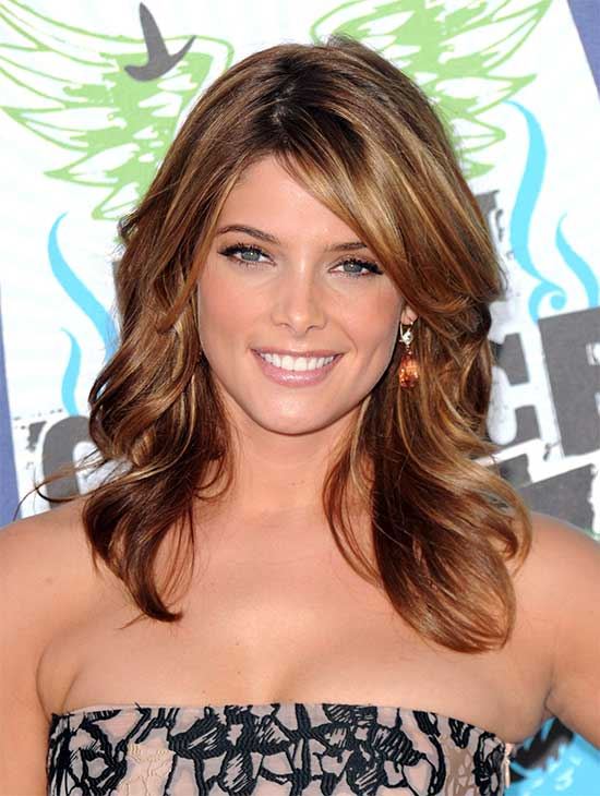 Ashley Greene length shaagy Hair cut